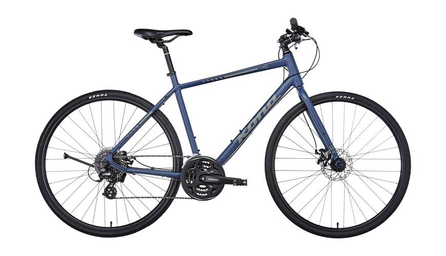 Kona Dewey Hybridcykel blå/svart